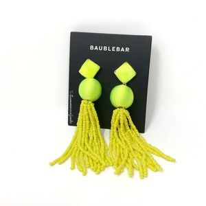 BaubleBar Azura Beaded Tassel Earrings